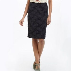 Anthropologie stretch lace pencil skirt xs